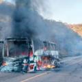 Arde en llamas autobús de Ómnibus de México